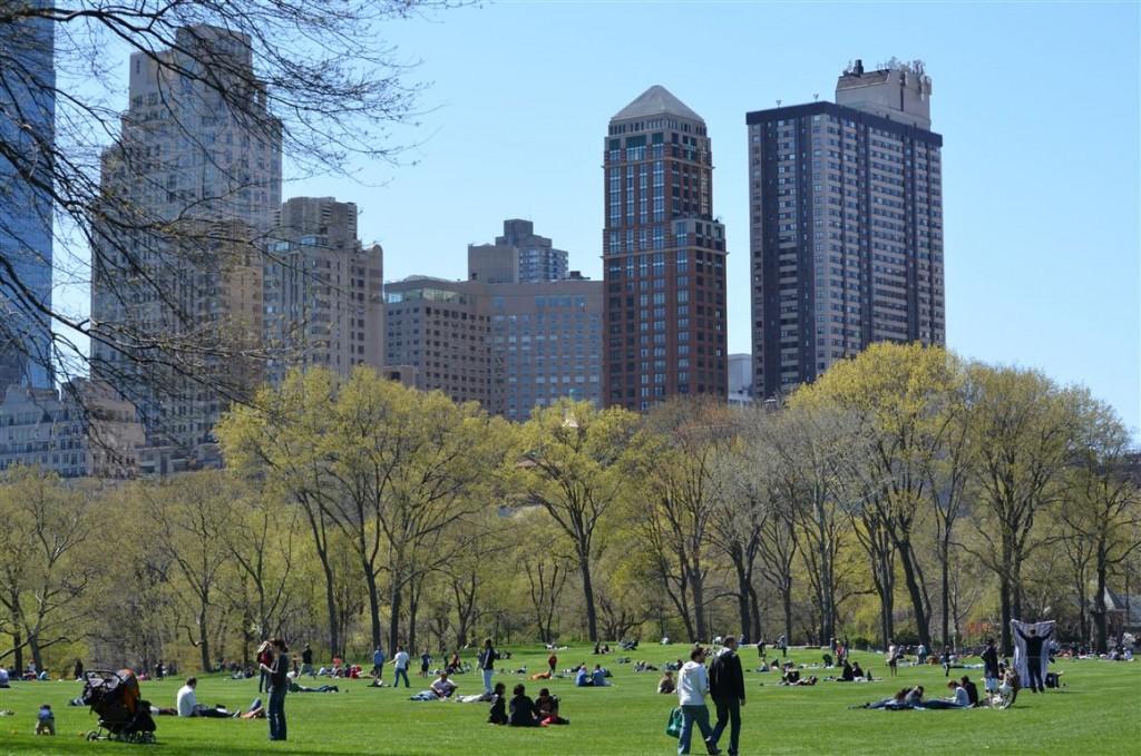 Primăvara în Parcul Central