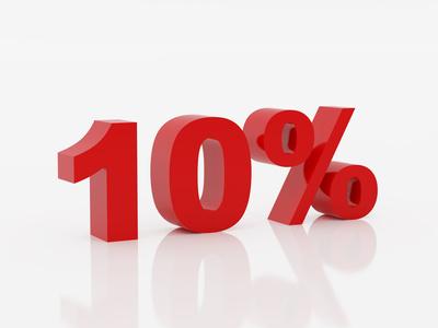 Cu 10% mai mult