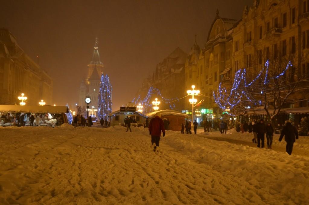 Timișoara, încă șifonată după prima zăpadă …