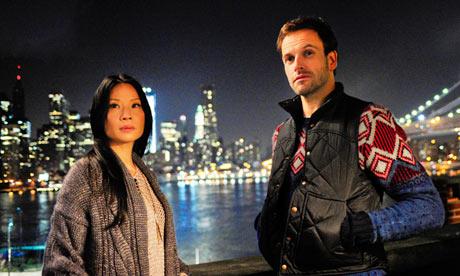 Elementary … Jonny Lee Miller as Sherlock Holmes and Lucy Liu as Watson.