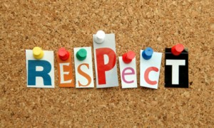 Respect pinned on noticeboard